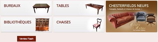 vente de meubles anglais