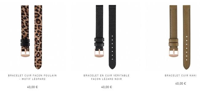 bracelet milanais montre