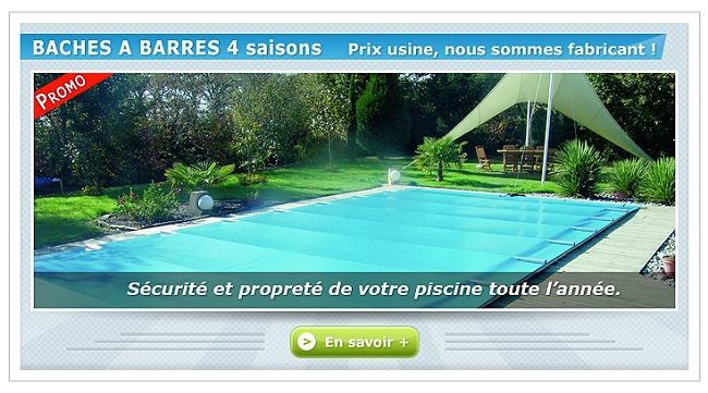 code promo bache piscine