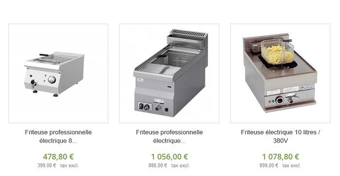 friteuse électrique professionnelle