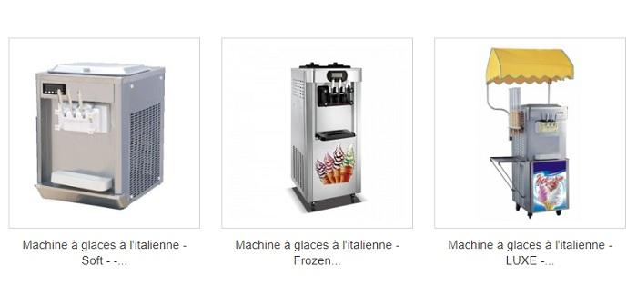 machines à glace professionnelles